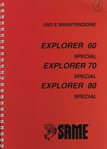 EXPLORER 60/70/80 SPECIAL versione ponte 1 - Libretto uso & manutenzione