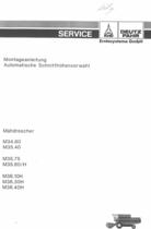 Automatische Schnitthöhenvorwahl für M 34.80 - M 35.40 - M 35.75 - M 35.80 H - M 36.10 H - M 36.30 H - M 36.40 H - Montageanleitung