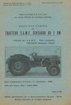 Bulletin d'essais de tracteur SAME Centauro 60 2RM