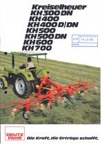 KREISELHEUER KH 300 DN - KH 400 - KH 400 D/DN - KH 500 - KH 500 DN - KH 600 - KH 700