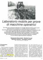 Laboratorio mobile per prove di macchine operatrici