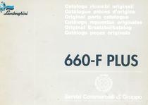 660 F PLUS - Catalogo ricambi originali / Catalogue pièces d'origine / Original parts catalogue / Catàlogo repuestos originales / Original Erstazteilkatalog / Catàlogo peças originais