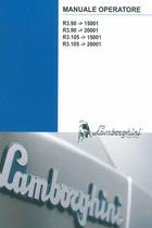 R3.90 ->15001 - R3.90 ->20001 - R3.105 ->15001 - R3.105 ->20001 - Manuale operatore