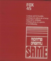 FOX 45 - Catalogo ricambi originali / Catalogue pièces d'origine / Original parts catalogue / Original Ersatzteilkatalog / Catálogo repuestos originales