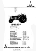 D 6005 A - Ersatzteilliste / Spare parts catalogue / Catalogue de pièces de rechange / Lista de repuestos