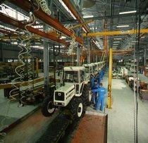Linea di produzione dello stabilimento Lamborghini di Pieve di Cento