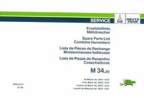 M 34.80 - Ersatzteilliste ab Masch. Nr. 6007-0101 / Spare parts list from Mach. Nr. 6007-0101 / Liste de pièces de rechange à partir de Mach. No. 6007-0101 / Lista de piezas de repuesto a partir de Maquina No. 6007-0101