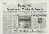SAME investe 25 milioni in Croazia