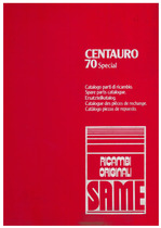 CENTAURO 70 SPECIAL - Catalogo Parti di Ricambio / Catalogue des pièces de rechange / Spare parts catalogue / Catàlogo piezas de repuesto / Ersatzteilkatalog
