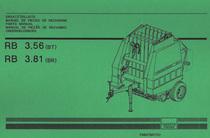 RB 3.56 (BT) - RB 3.81 (BR) - Ersatzteilliste / Manuel de pieces de rechange / Parts manual / Manual de piezas de recambio / Onderdelenboek