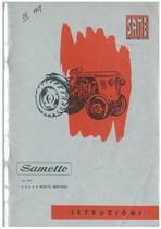 SAMETTO 18 HP - Libretto uso & manutenzione