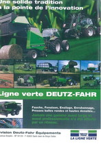 Une solide tradition a la pointe de l'innovation - Ligne verte Deutz -Fahr