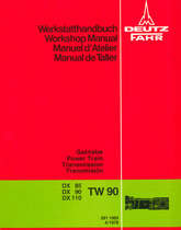 DX 85 - DX 90 - DX 110 - Getriebe/Power train/Transmission/Transmision TW 90 - Werkstatthandbuch/Workshop Manual/Manual d'Atelier/Manual de Taller