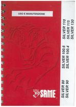 SILVER 80 - 90 - 100.4 - 100.6 - 110 - 115 - 130 - Libretto Uso & Manutenzione