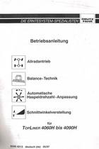 ALLRADANTRIEB - BALANCE-TECHNIK - AUTOMATISCHE-HASPELDREHZAHL-ANPASSUNG - SCHNITTWINKELVERSTELLUNG FÜR TOPLINER 4060 H BIS 4090 H - Betriebsanleitung