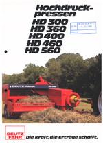 HOCHDRUCK-PRESSEN HD 300 - HD 360 - HD 400 - HD 460 - HD 560