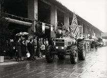 Sfilata di trattori Same alla Festa dell'agricoltura di Malpaga