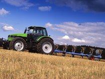 [Deutz-Fahr] trattore Agrotron 195 con aratro