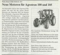 Neue Motoren fur Agrotron 100 und 105