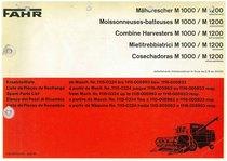 M 1000-1200 - Catalogo Parti di Ricambio / Catalogue des Pièces de Rechange / Spare Parts Catalogue / Catàlogo Piezes de Repuesto / Ersetzteilkatalog