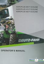 AGROPLUS 405 F ECOLINE - AGROPLUS 410 F ECOLINE - AGROPLUS 420 F ECOLINE - Operator's manual