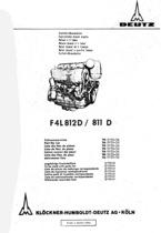 F4 L 812 D-811 D - Ersatzteilliste / Spare parts catalogue / Catalogue de pièces de rechange / Listino parti di ricambio / Lista de repuestos / Catalogo das pecas sobressalentes / Reservdelslista