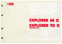 EXPLORER 65-75 C ERGOMATIC - Catalogo Parti di Ricambio / Catalogue de pièces de rechange / Spare parts catalogue / Ersatzteilliste / Lista de repuestos / Catálogo peças originais