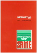 MERCURY 85 SPECIAL - Libretto uso & manutenzione