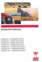 DORADO 80 ->ZKDBB90200TS30001 - DORADO 80 ->ZKDBD10200TS30001 - DORADO 90 ->ZKDBC30200TS30001 - DORADO 90 ->ZKDBD50200TS30001 - DORADO 90.4 ->ZKDBC70200TS30001 - DORADO 90.4 ->ZKDBD90200TS30001 - DORADO 100.4 ->ZKDBE30200TS30001 - Operator's manual