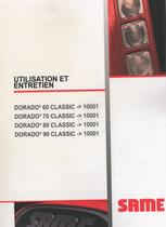 DORADO³ 60 CLASSIC ->10001 - DORADO³ 70 CLASSIC ->10001 - DORADO³ 80 CLASSIC ->10001 - DORADO³ 90 CLASSIC ->10001 - Utilisation et entretien