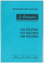 150 - 165 - 190 RACING - Bedienung und Wartung