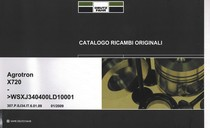 AGROTRON X720 ->WSXJ340400LD10001 - Catalogo ricambi originali