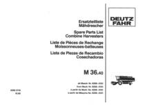 M 36.40 - Ersatzteilliste / Liste de Pièces de Rechange / Spare Parts List / Elenco dei Pezzi di Ricambio / Lista de Piezas de Recambio