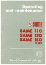 SAME 110 - 130 - 150 T - Operating and maintenance