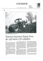 Nuevos tractores SAME Iron de 136 hasta 176 caballos