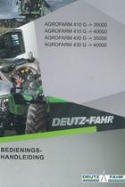 AGROFARM 410 G ->35000 - AGROFARM 410 G ->40000 - AGROFARM 430 G ->35000 - AGROFARM 430 G ->40000 - Bedienings-handleiding