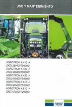 AGROTRON K 410 -> ZKDL380400TD10001 - AGROTRON K 420 -> ZKDL390400TD10001 - AGROTRON K 430 -> ZKDL410400TD10001 - AGROTRON K 610 -> ZKDL400400TD10001 - AGROTRON K 610 -> ZKDT670200TD10001 - Uso y mantenimiento
