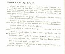 Trattore S.A.M.E. tipo D.A. 17