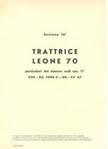 Sez. 16 - LEONE 70 - Catalogo Parti di Ricambio / Catalogue de pièces de rechange / Spare parts catalogue / Ersatzteilliste / Lista de repuestos