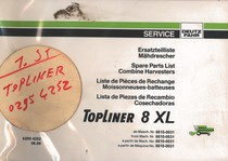TOPLINER 8 XL - Ersatzteilliste ab Masch. Nr. 6610-0031 / Spare parts list from Mach Nr. 6610-0031 / Liste de pièces de rechange à partir de Mach. No. 6610-0031 / Lista de piezas de recambio a partir de Maquina No. 6610-0031