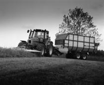 [SAME] trattore Iron 165 S al lavoro con rimorchio K 7.39