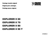 EXPLORER 60 II-70 II-80 II-90 II Turbo - Catalogo Parti di Ricambio / Spare parts catalogue / Catálogo peças originais
