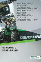 AGROPLUS 320 V ->5001/15001 - AGROPLUS 330 V ->15001 - AGROPLUS 410 V ->5001/15001 - AGROPLUS 420 V ->5001/15001 - AGROPLUS 430 V ->15001 - Bediening-handleiding