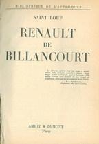 SAINT Loup, RENAULT DE BILLANCOURT, Parigi, Amiot-Dumont, 1956