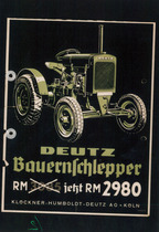 [Deutz] catalogo pubblicitario del trattore F1M 414
