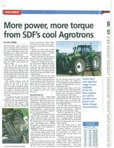More power, more torque from SDF's cool Agrotrons