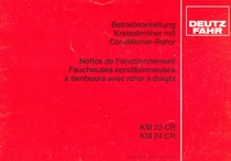 KM 22 CR - KM 24 CR - Betriebsanleitung / Notice de fonctionnement