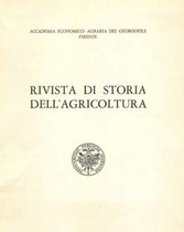 RIVISTA DI STORIA DELL'AGRICOLTURA, 1964