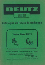 D 40-D 50 - Catalogue de Pièces de Rechange