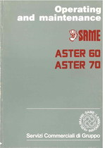 ASTER 60 - 70 - Operating and maintenance